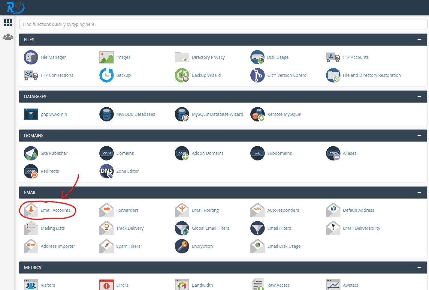 cpanel email circle