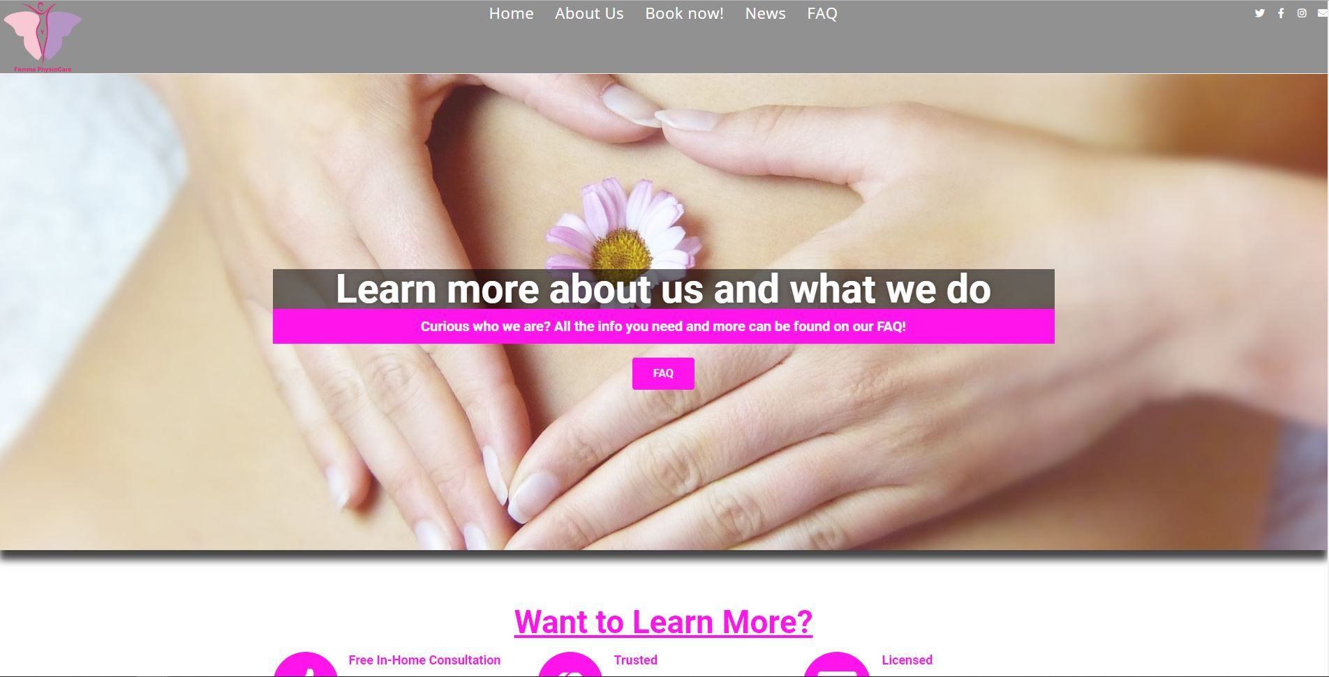Femme PhysioCare Home Page