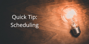 Quick Tip of the Month: November 2019 Edition