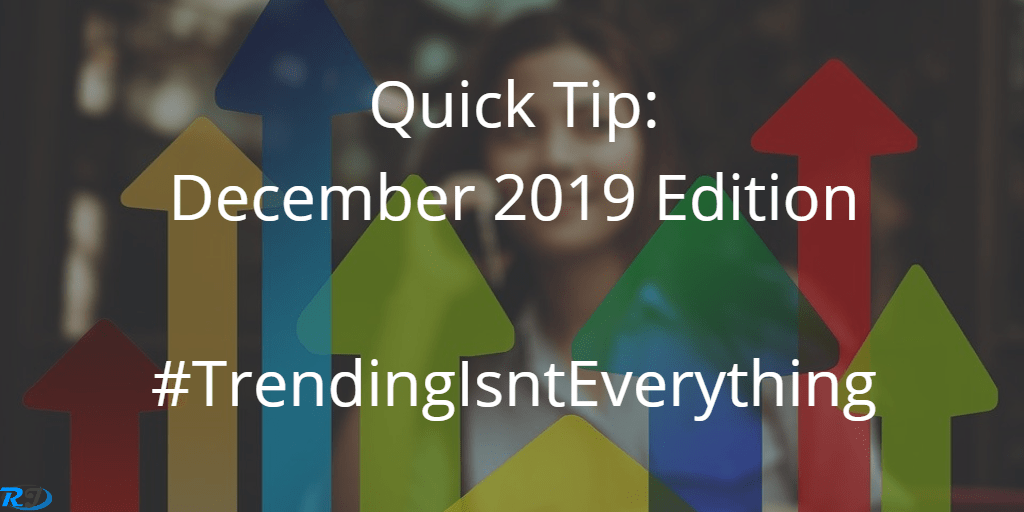 Quick Tip of the Month: December Edition